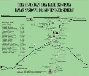 peta ke bromo dari surabaya malang jakarta bandung